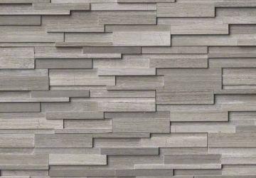 Gray Oak 3D Honed - Natural Stone Panel