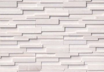 Arctic White 3D Honed - Natural Stone Panel